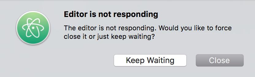 Atom not responding