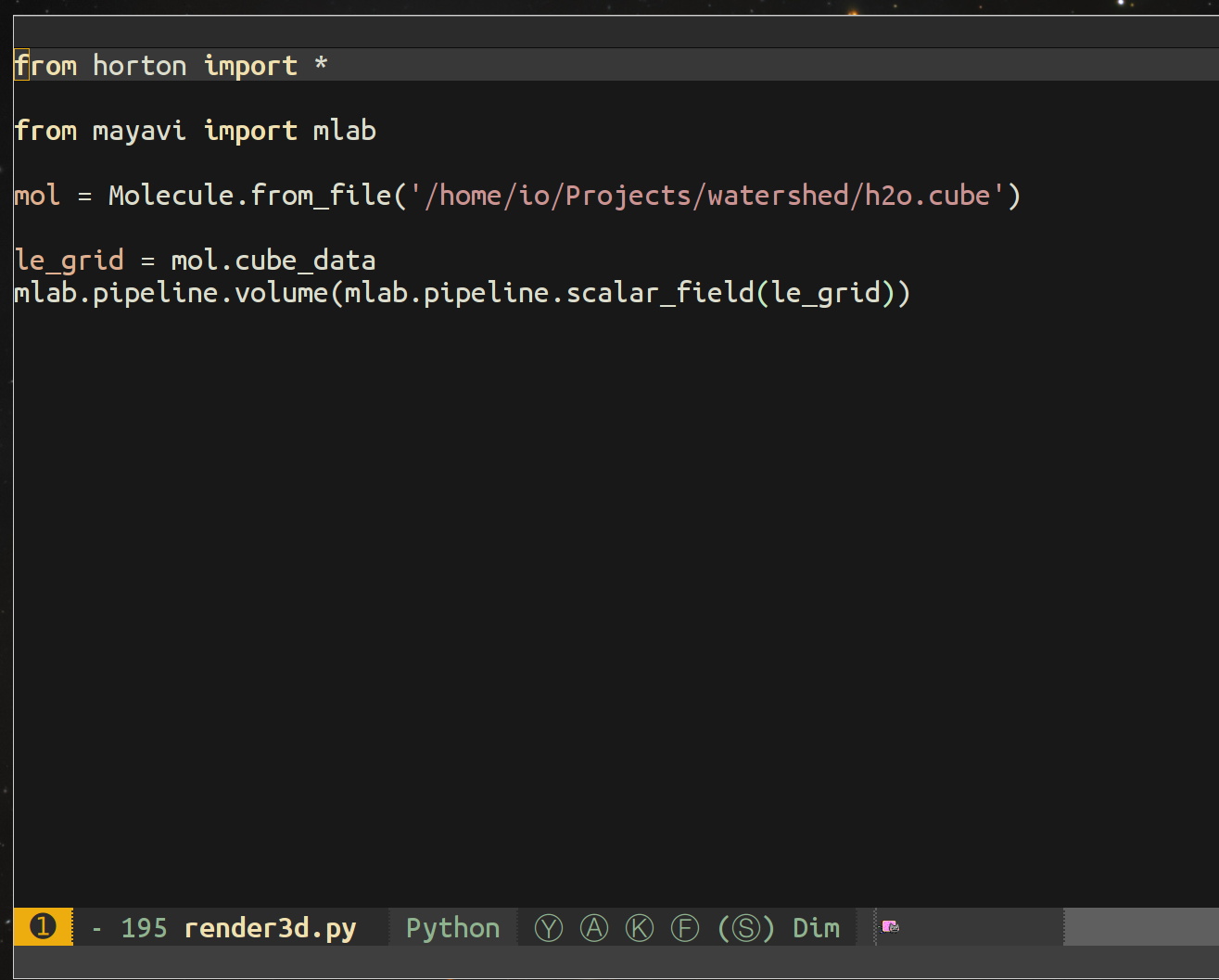 Extra top line when openning python files · Issue #738