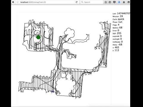 iRobot Roomba 980 cleaning map using dorita980 lib