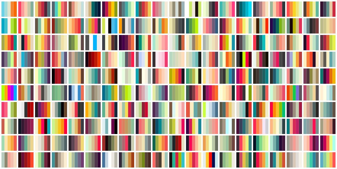200 palettes