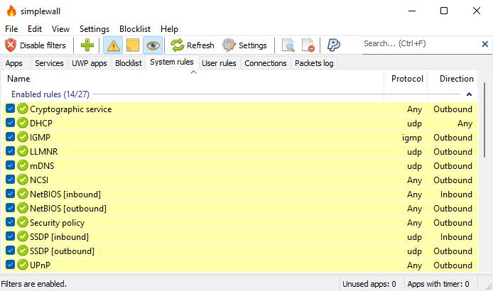 GitHub - henrypp/simplewall: Simple tool to configure ...