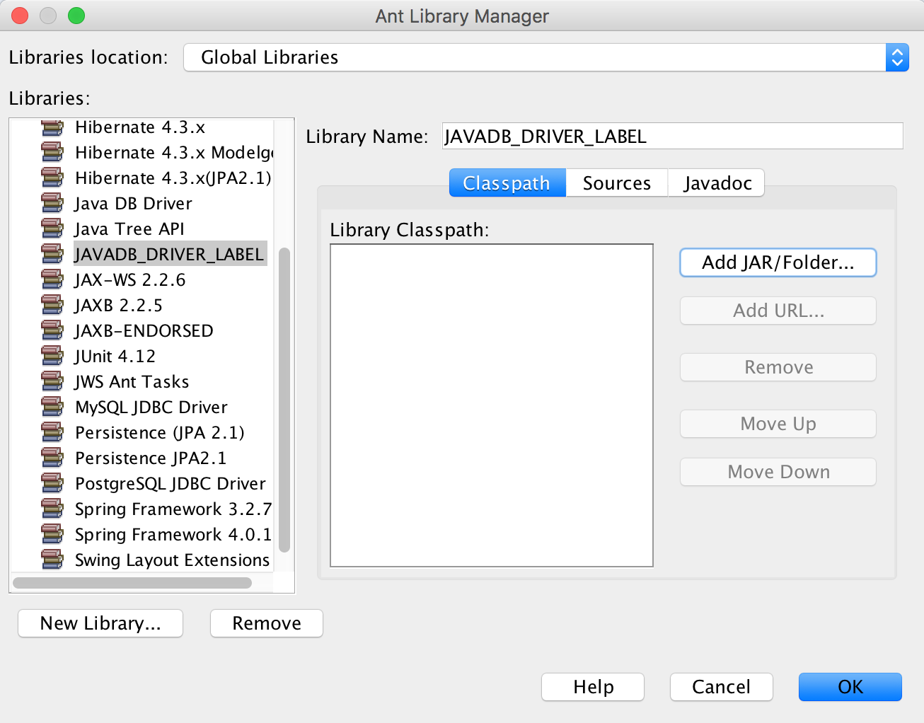 Github hdsantos89javadbdriverlabel open libraries add new library add jar files baditri Images