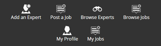 Jobs and Experts - Icons - Bright