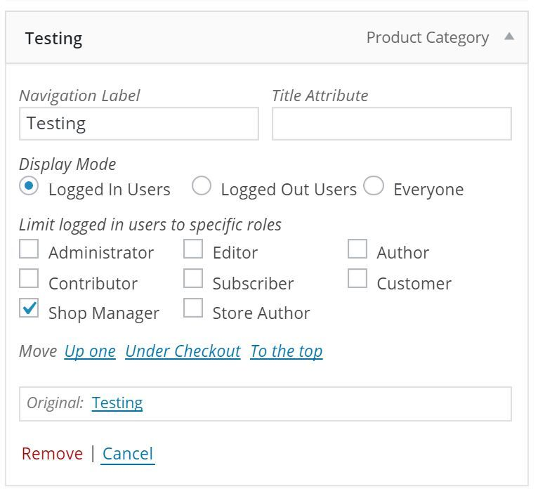 Show the new options for the menu items in the admin menu customizer