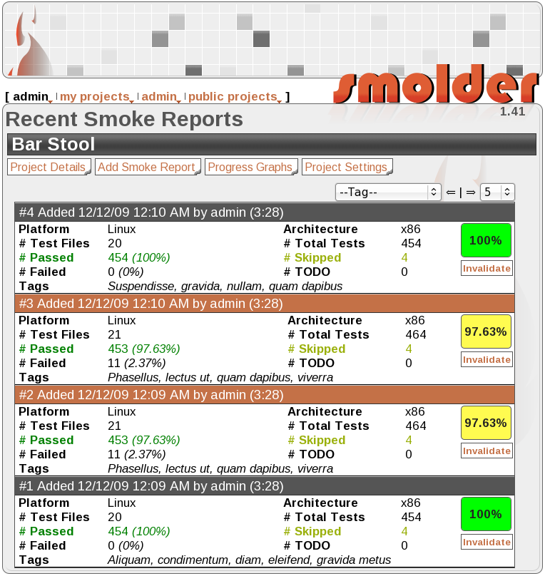 recent smoke reports