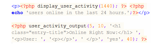 user-activity-functions
