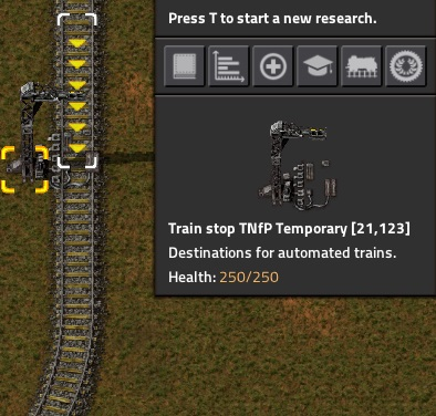 TNfP Rail Tool Stop