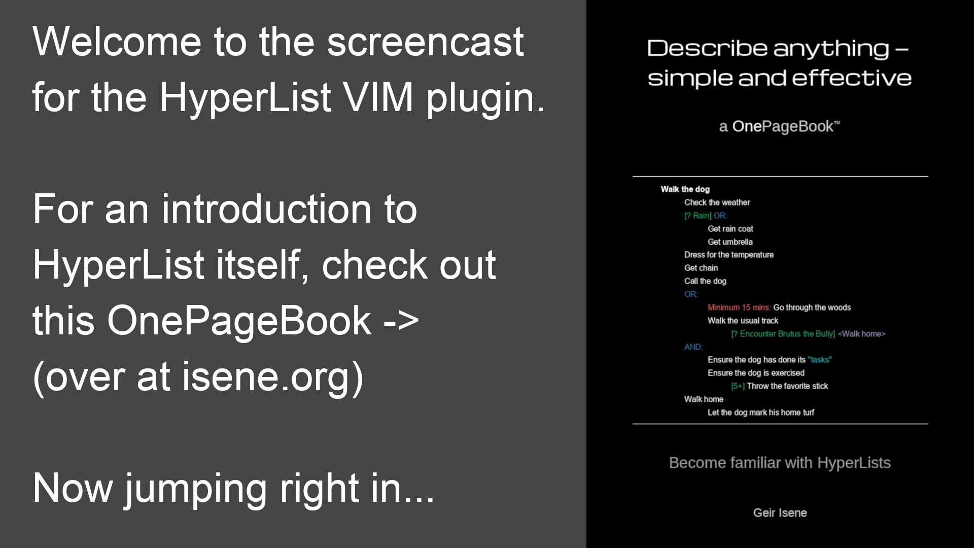 HyperList screencast