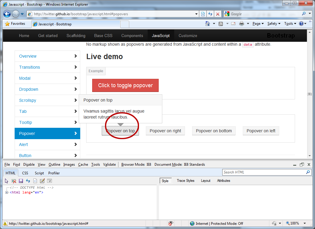 Popover arrow not displaying in IE8, v2 1 0 · Issue #4852