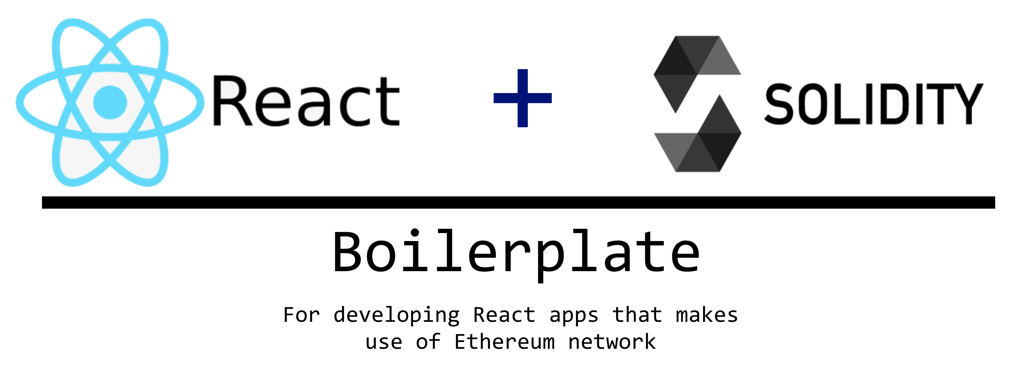 Solidity with React Boilerplate - 反应样板的坚固性