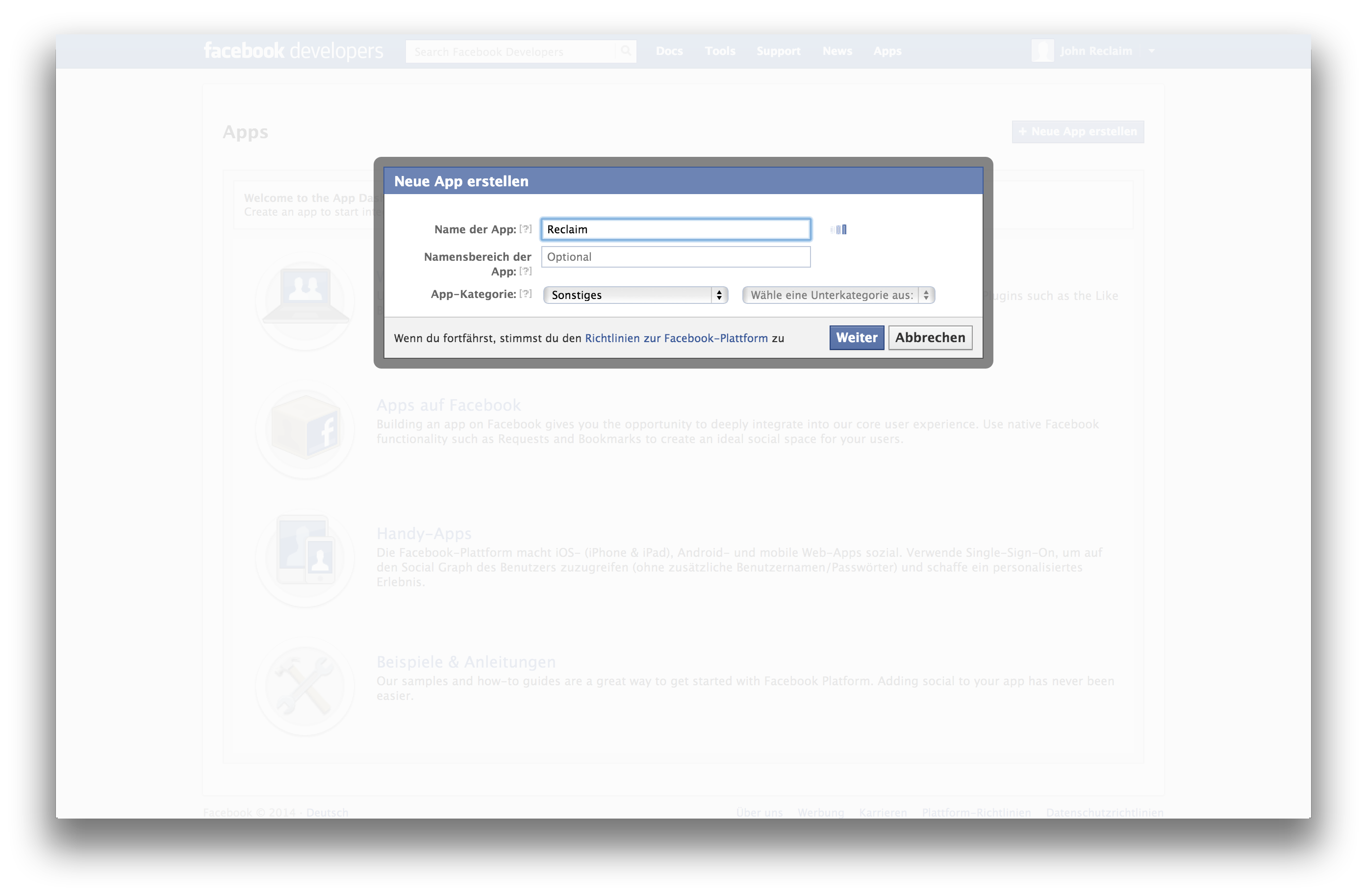 How To Create Application Facebook Lesson 14 Youtube Choose Display Name  Reclaimsocialmedia