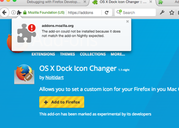 Addon Install Error -