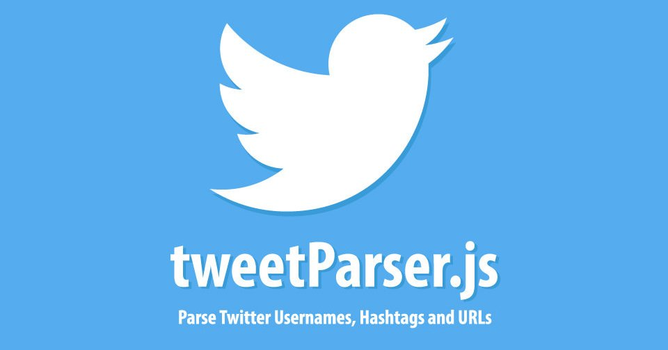 Parse Twitter Usernames, Hashtags and URLs