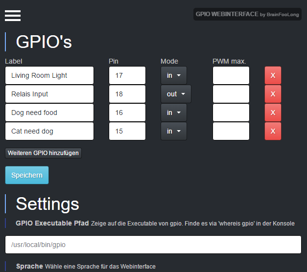 github brainfoolong gpio webinterface control gpios with a rh github com Web Internet Web Interface Icon