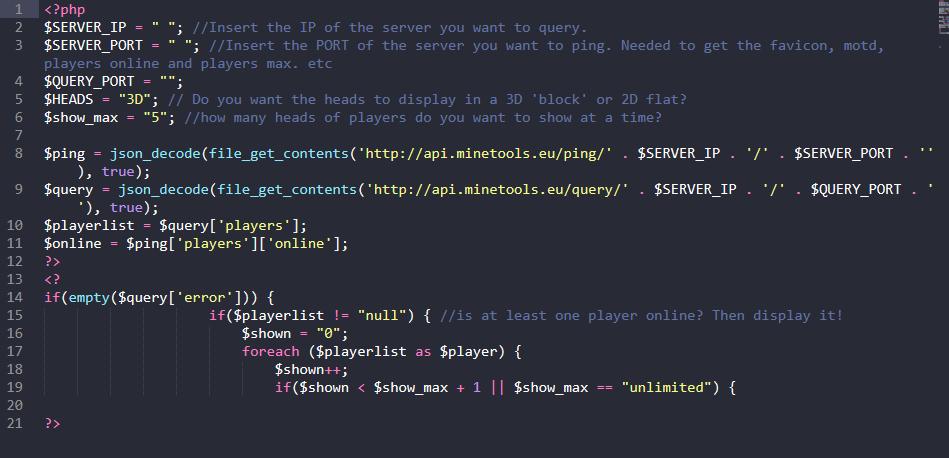GitHub - CMNatic/MC-Player-Counter: Uses Minecraft API to