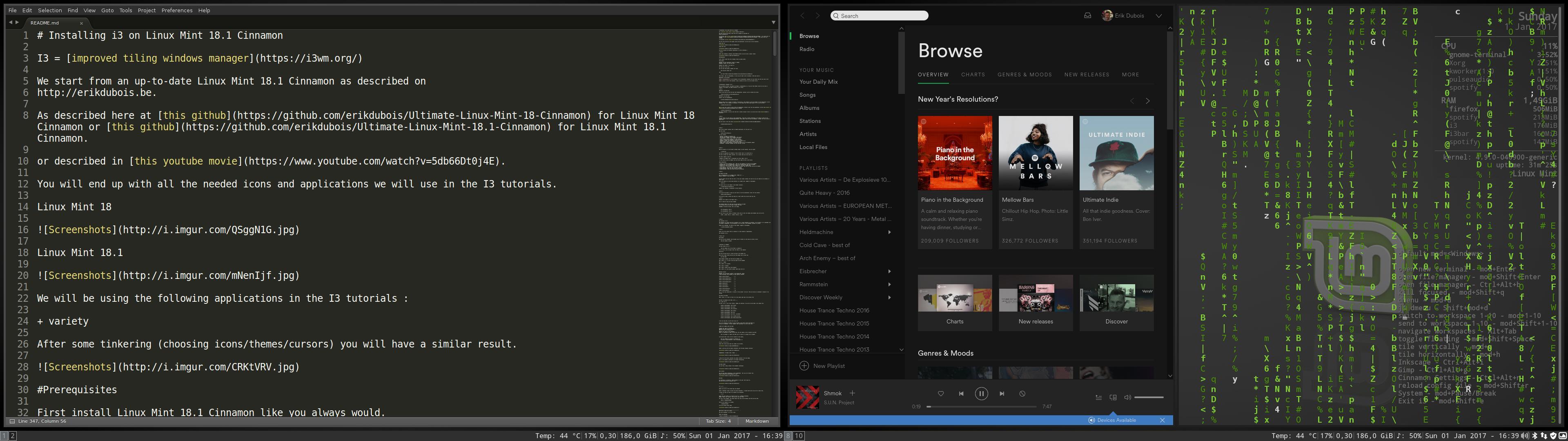 GitHub - erikdubois/LinuxMint181i3: How to install i3 on Linux Mint