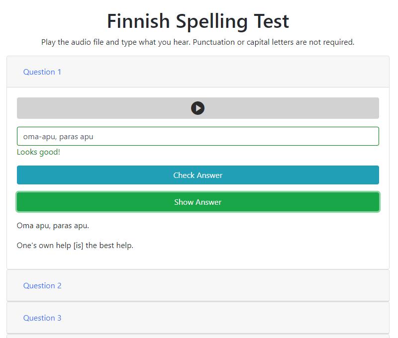 GitHub - enfrte/spelling-test: Test how well you can spell ...