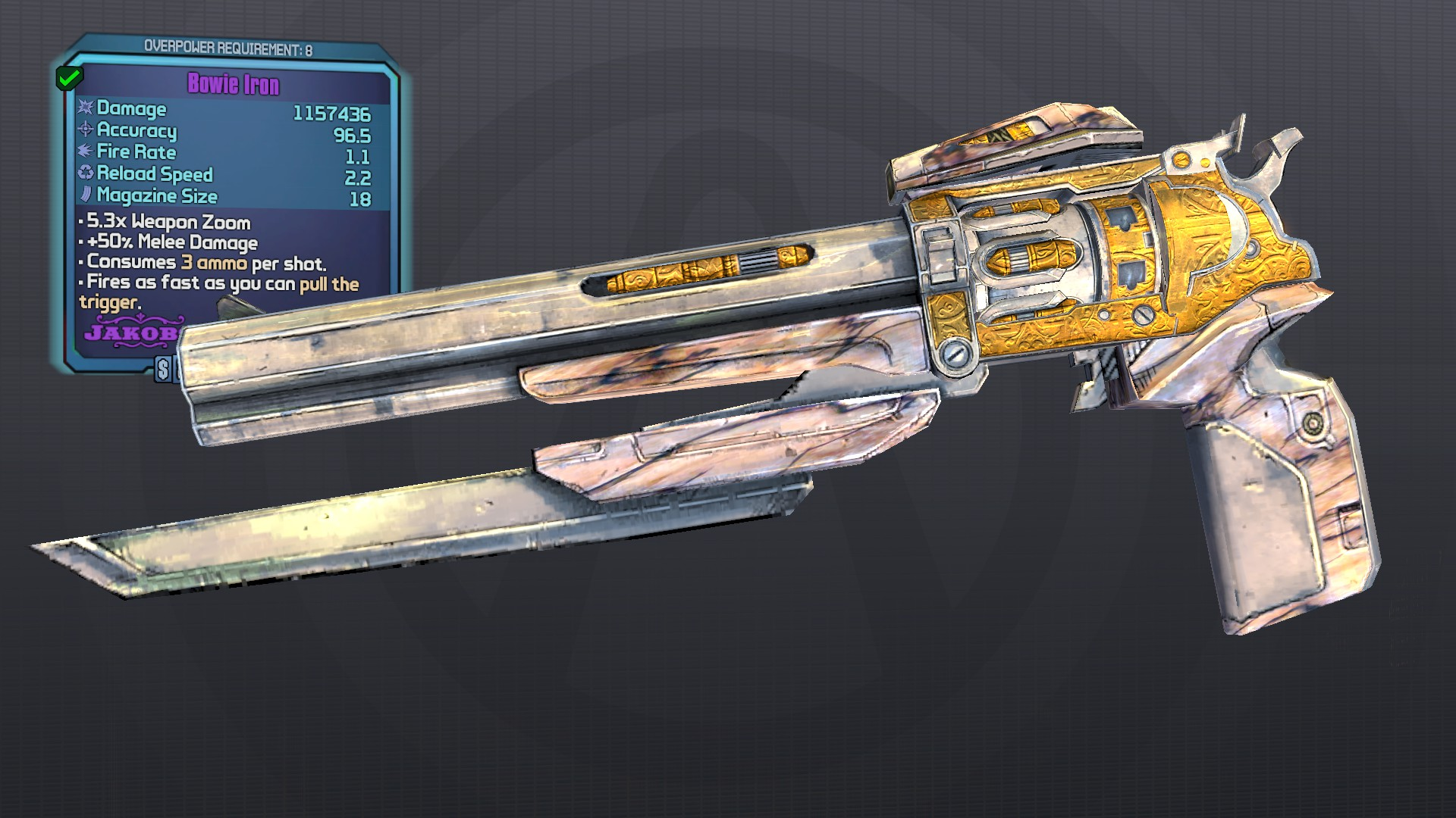 Revolvers (Jakobs Barrel Version) · BLCM/ModCabinet Wiki