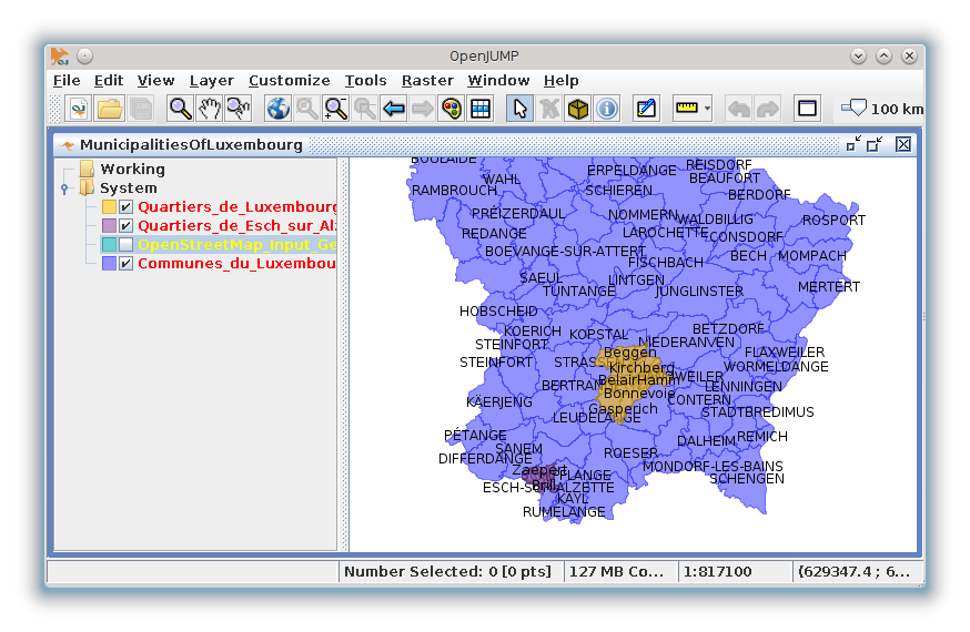 OpenJUMP GIS in action