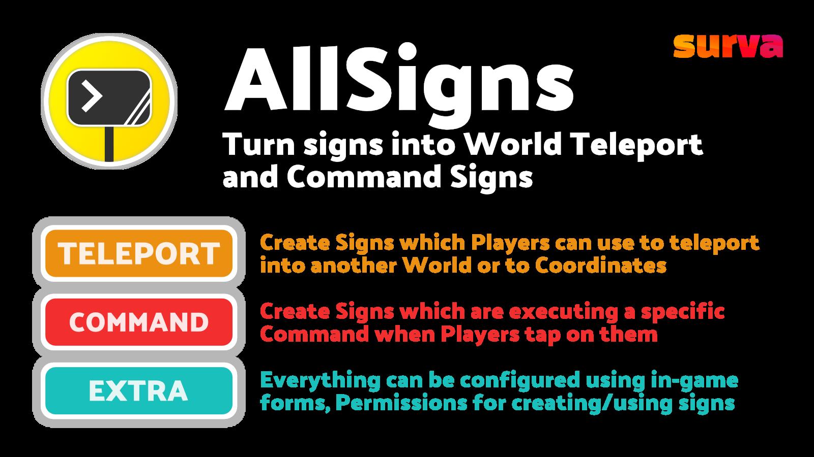 AllSigns plugin features
