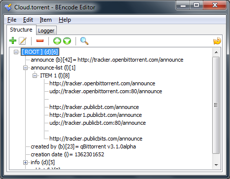 Torrent Creator doesn't support setting the tracker priority