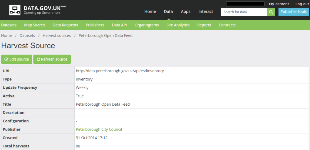 Find open data