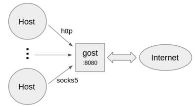 http/socks5代理,gost代理支持http/socks5,http代理socks5代理 互联网IT 第2张