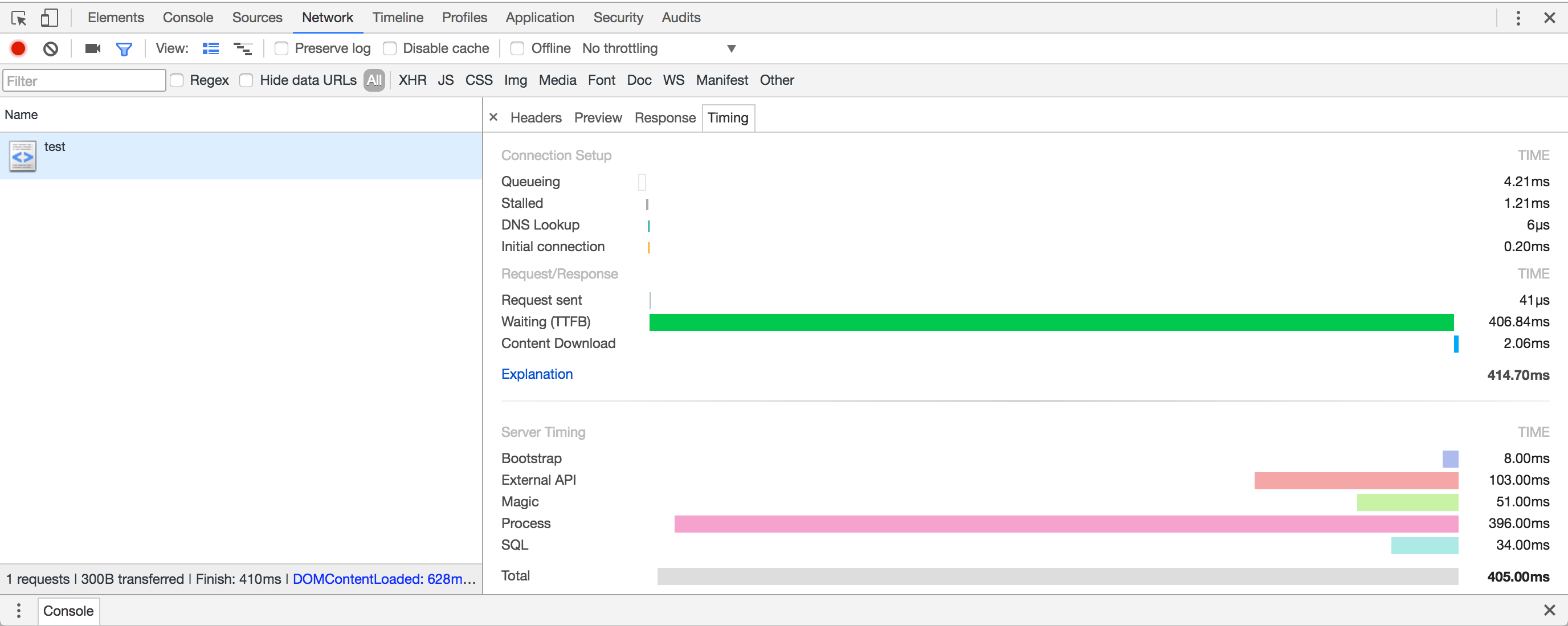 Server Timing