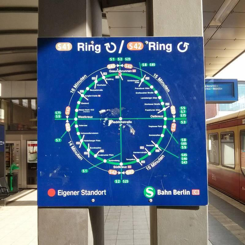 Berlin Ringbahn Map