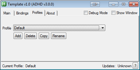 A Simple usage example · evilC/ADHD-AHK-Dynamic-Hotkeys-for