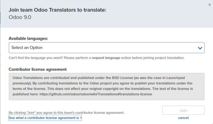 No Contributors License Agreement For Transifex Team Issue 7137
