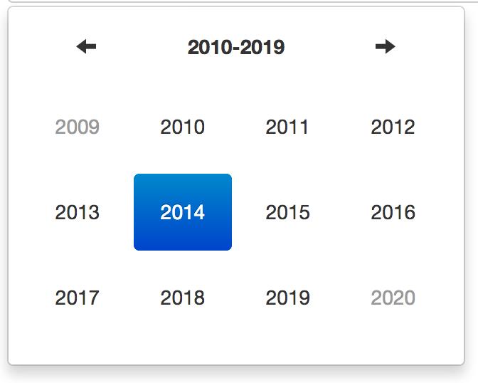 Datetimepicker year view