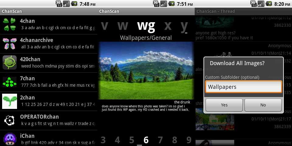 ChanScan Screenshots