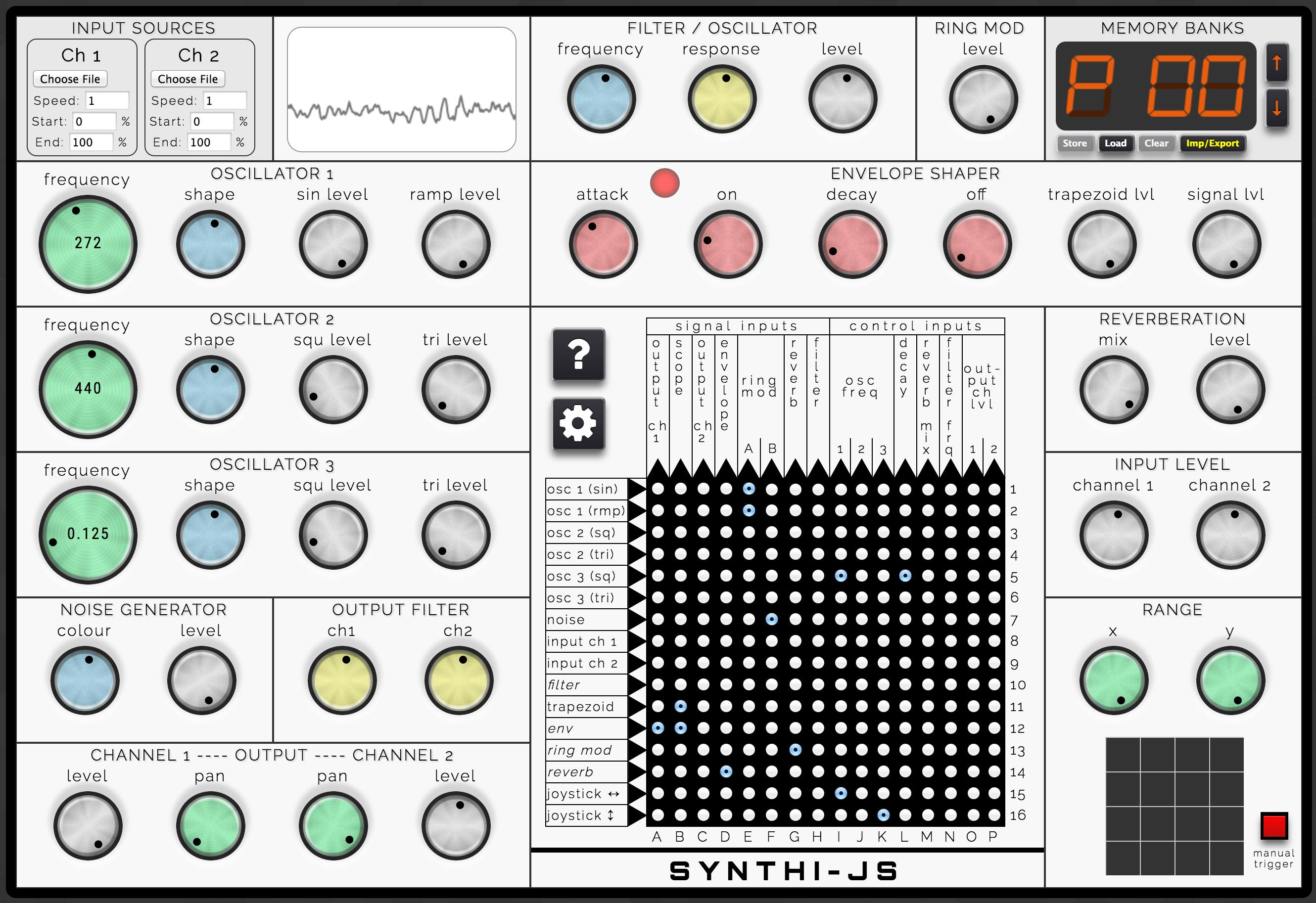 Screenshot of SYNTHI-JS