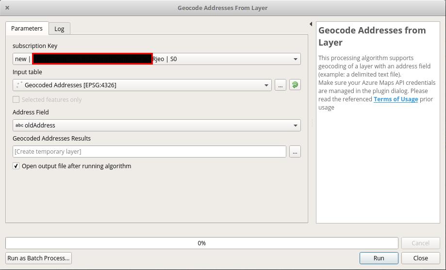 Layer Geocoding with Azure Maps