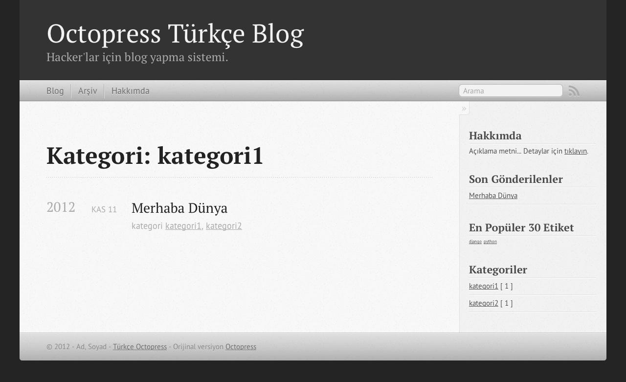Octopress Türkçe - Kategori Arşivi