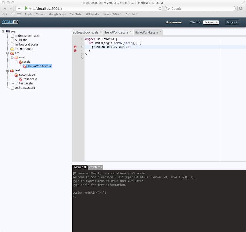 ScalaIde Screenshot