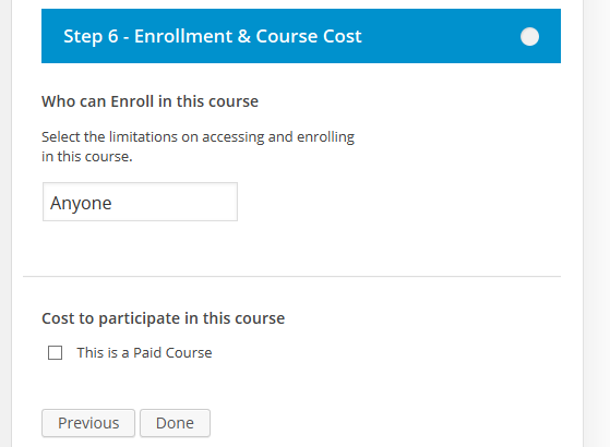 CoursePress - New Course - Enrollment