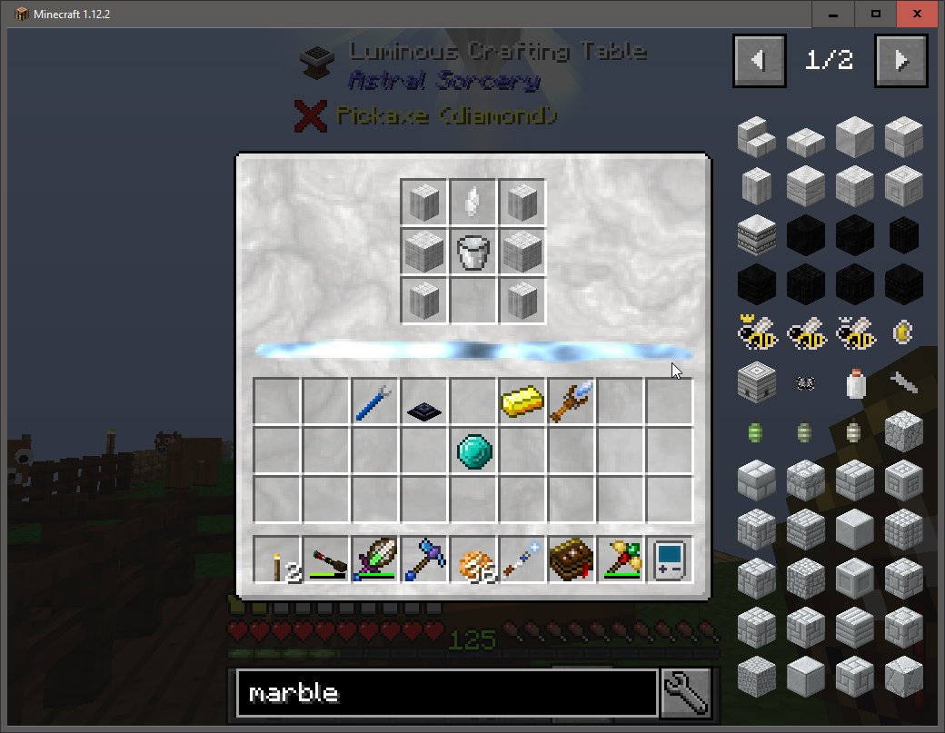 1 12 2] Luminous Crafting Table shows no output/not