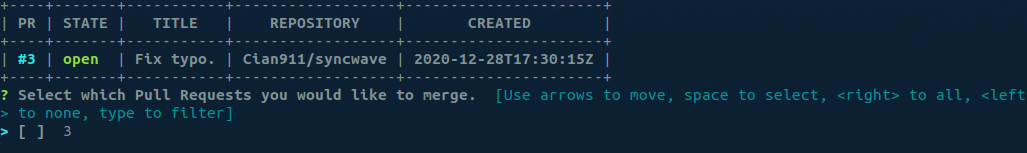 gomerge Sample Output