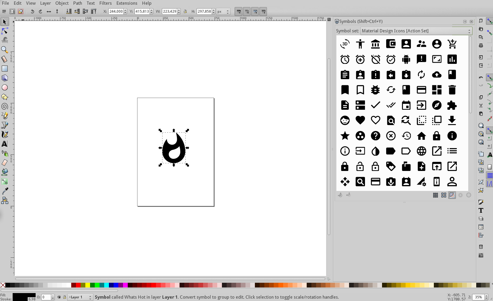 Using Inkscape Symbols