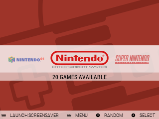 System Select Screen