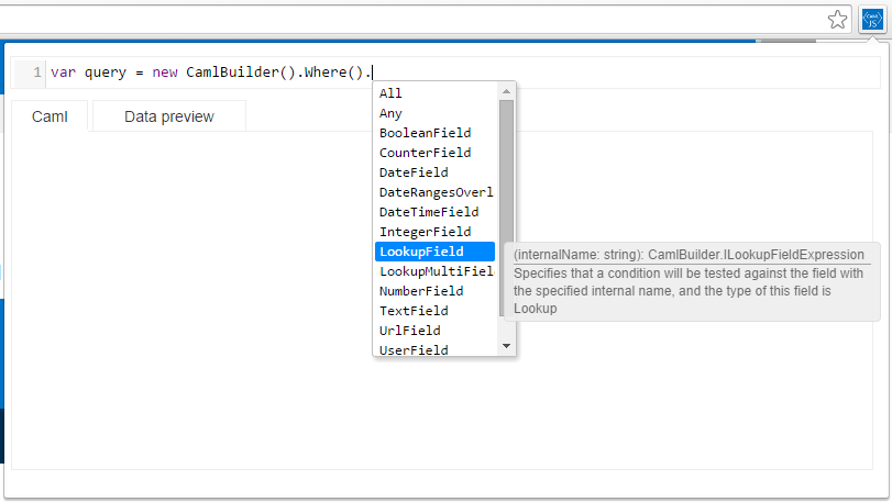 autocomplete and intellisense is available