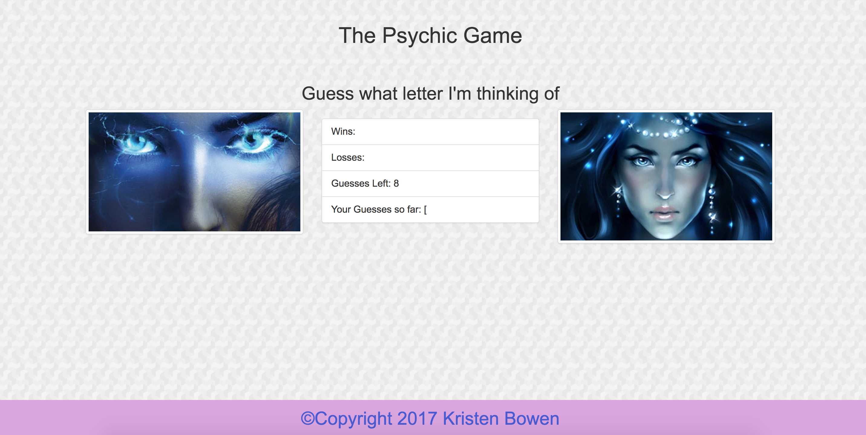 GitHub - Kbowen200247/Psychic-Game: Psychic-Game : JavaScript