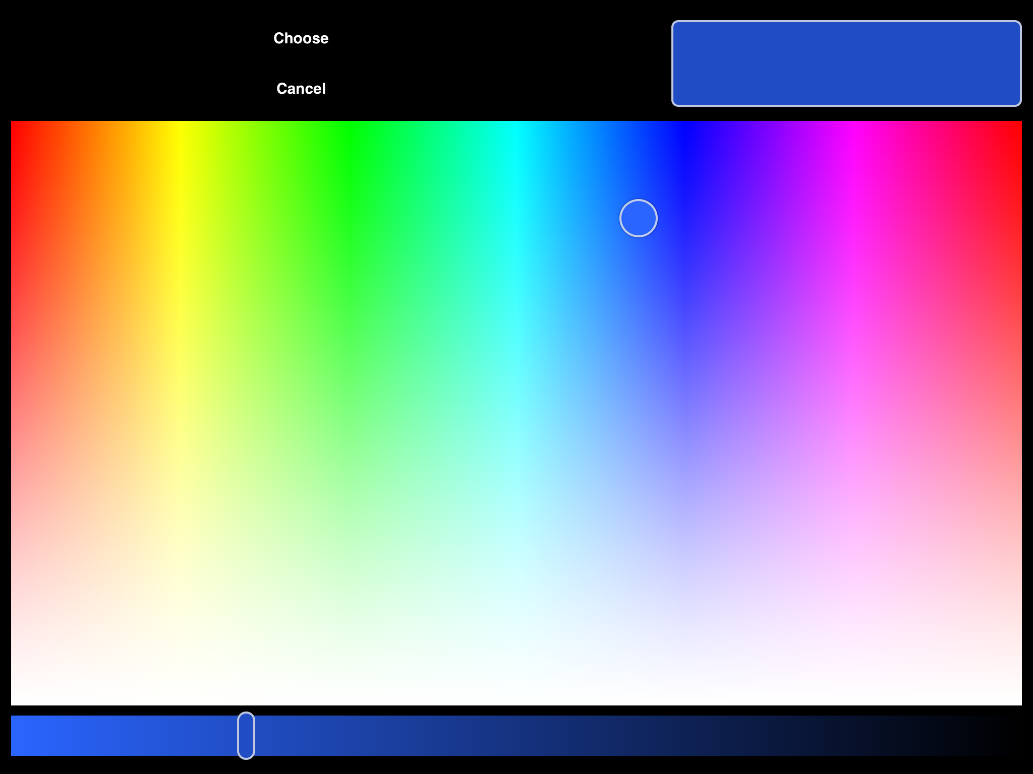 how to get the color picker as a color wheel