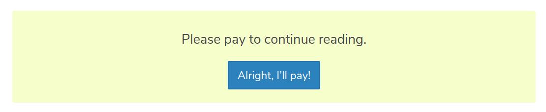 Custom pay form example