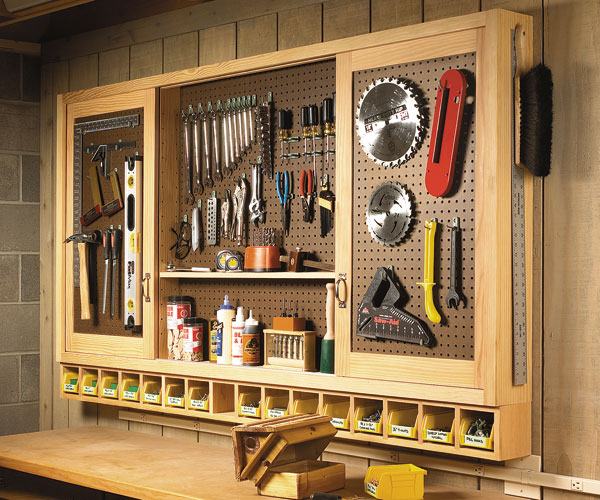 Pegboard Tool Cabinet Plans