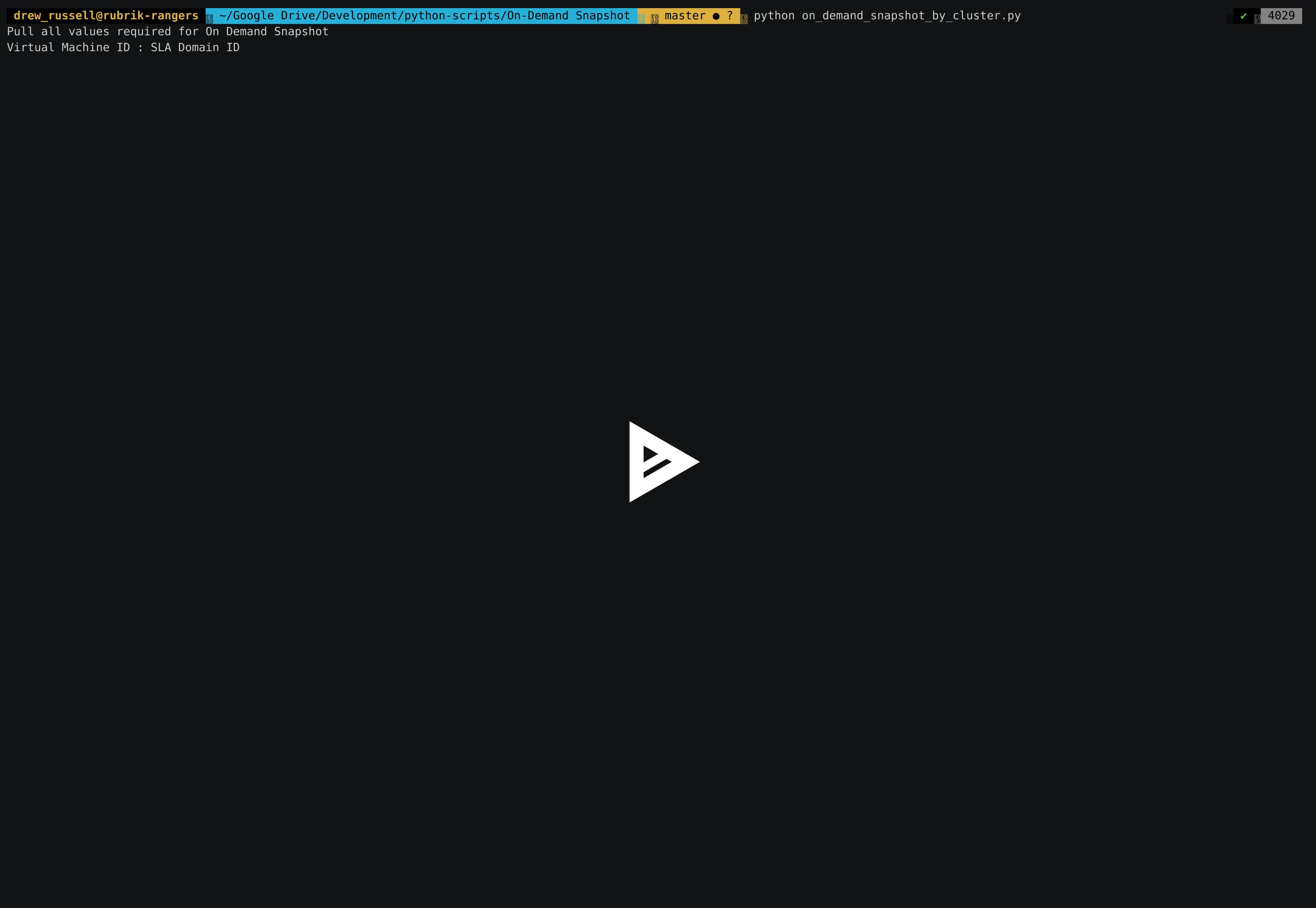 rubrik-scripts-for-python/Snapshot at master · rubrikinc