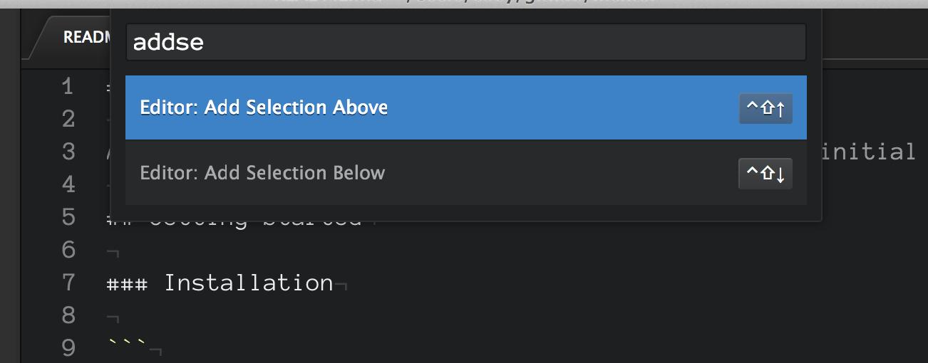 Commands to create multiple cursors 048c833f82f