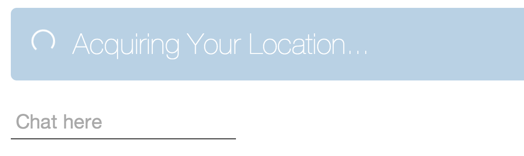 Acquire Lat Long Chat Proximity Location